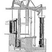 Watts Steam Engine, 1769 Poster