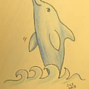 Wave The Suzuki Dolphin Poster by Sheri Lauren Schmidt