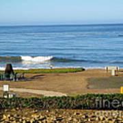 Wave Upon San Simeon Shore Poster