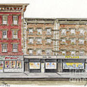 Waverly Diner In Greenwich Village Poster