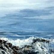 Waves A Crashing Poster