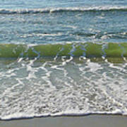 Waves At 7 Am Poster