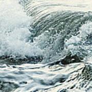 Waves In Stormy Ocean Poster