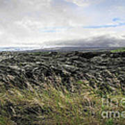 Waves Of Clouds Sea Lava And Grass Poster