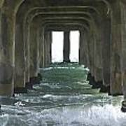 Waves Under The Pier Landscape Poster