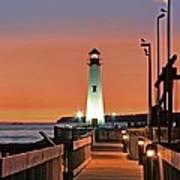 Wawatam Lighthouse Sunrise Poster