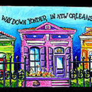 Way Down Yonder In New Orleans Poster by Terry J Marks Sr