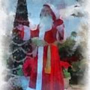 Wdw Santa Photo Art Poster