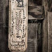We Buy Old Horses - Vintage Thermometer Poster