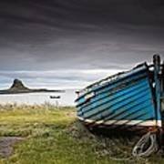 Weathered Boat On The Shore Poster