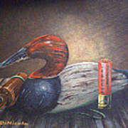 Weathered Canvasback Poster