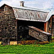 Weathered New England Barn Poster