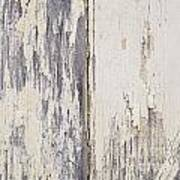Weathered Paint On Wood Poster
