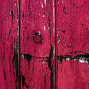 Weathered Red Poster