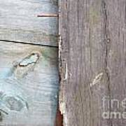 Weathered Wooden Boards Poster