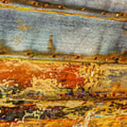 Weathered Wooden Boat - Abstract Poster