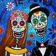 Wedding Couple  Poster by Pristine Cartera Turkus