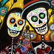 Wedding Dia De Los Muertos Poster