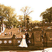 Wedding In Central Park Poster