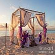 Wedding Table On Tropical Beach Poster