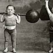 Weightlifting Dwarfism Exhibits Poster