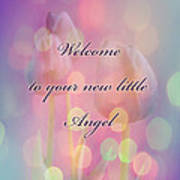 Welcome New Baby Greeting Card - Tulips Poster