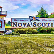 Welcome To Nova Scotia Poster