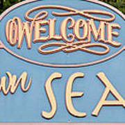 Welcome To Seaside Poster