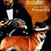 Welsh Corgi Pembroke Art Canvas Print - The Godfather Movie Poster Poster