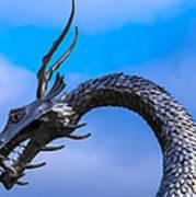 Welsh Dragon Head Poster