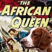 Welsh Springer Spaniel Art Canvas Print - The African Queen Movie Poster Poster