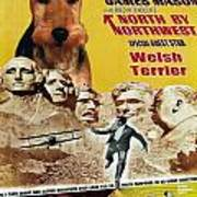 Welsh Terrier Art Canvas Print - North By Northwest Movie Poster Poster