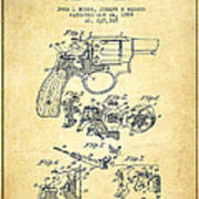 Wesson Hobbs Revolver Patent Drawing From 1899 - Vintage Poster