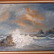 West Coast Seascape Poster