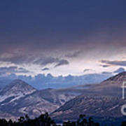 West Elk Mountains First Light Poster