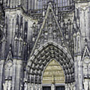 West Entrance Door Cologne Cathedral Poster