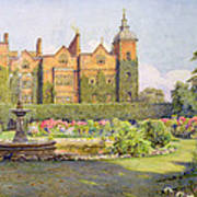 West Front And Gardens Of Hatfield Poster