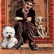 West Highland White Terrier Art Canvas Print - A Dogs Life Movie Poster Poster