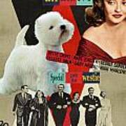 West Highland White Terrier Art Canvas Print - All About Eve Movie Poster Poster