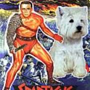 West Highland White Terrier Art Canvas Print - Spartacus Movie Poster Poster
