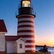 West Quoddy Head Light At Dawn I Poster