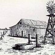West Texas Windmill Poster