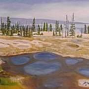 West Thumb Geyser Basin Yellowstone Poster