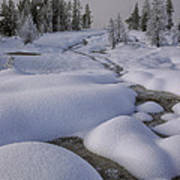 West Thumb Snow Pillows II Poster