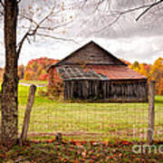 West Virginia Barn In Fall Poster