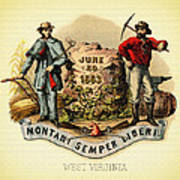 West Virginia Coat Of Arms - 1876 Poster