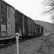 Westbound Train Black And White Poster
