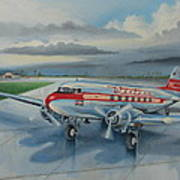 Western Airlines Dc-3 Poster