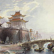 Western Gate Of Peking, C.1850 Poster by Thomas Allom