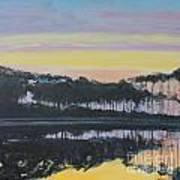 Western Lake Sunrise Poster